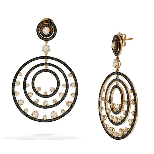 Concentric Circle Earrings: The Concentric Circle Earrings Form Crivelli