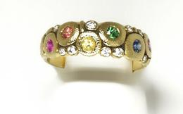 18k Yellow  Vivid Rainbow Mix Orchard Ring