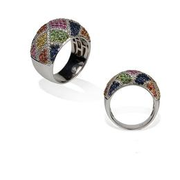 Mixed Stone Micro-Pave Ring