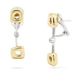 Antonini 18k Two-Toned and Diamond Earrings