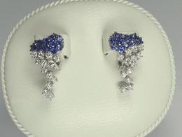 Blue Sapphire a Diamond Earrings by Damiani