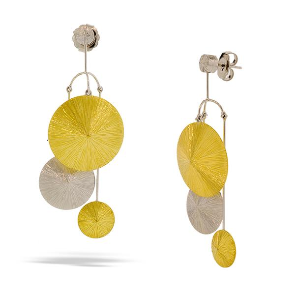 Sakamoto 18k Two-Toned Disk Earring Jackets