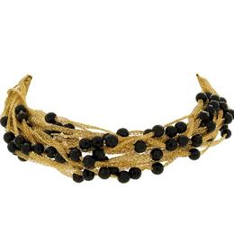 Calgaro 18k Yellow Gold and Onyx Bracelet