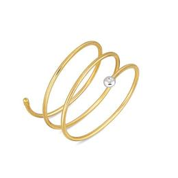 18KT. TRIPLE WRAP FLEXIBLE BRACELET.