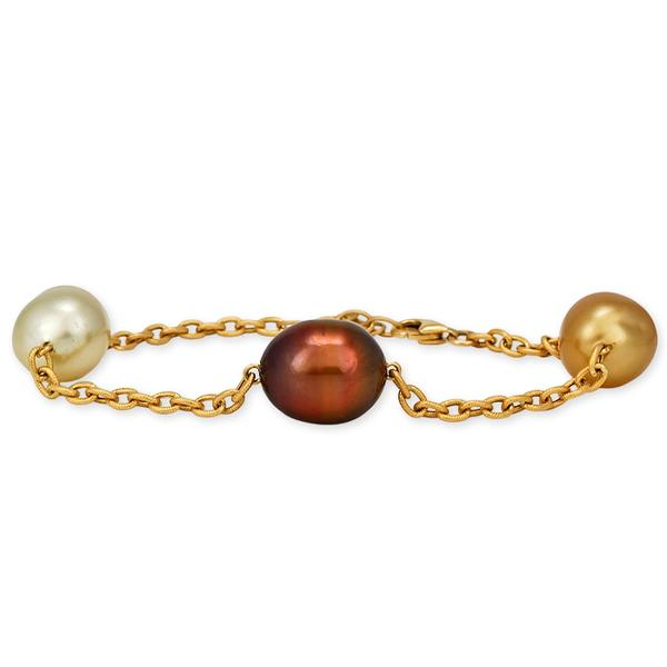 Mullti-Colored South Sea Baroque Pearl Bracelet