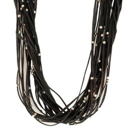 Calgaro Black Sterling Silver Necklace