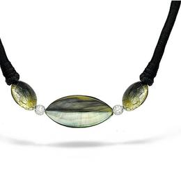 Maya Mother of Pearl and Diamond Necklace