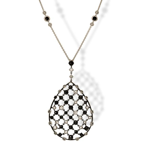 Crivelli Black and White Diamond Necklace