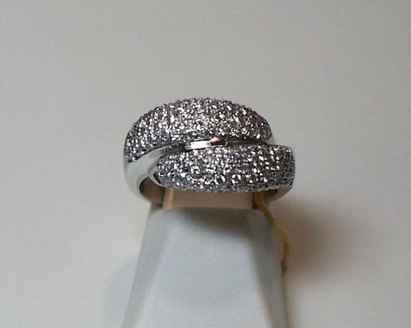Pave Diamond Bypass Ring