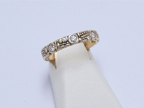 Alex Sepkus 18k and Diamond Band
