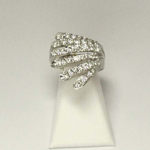 Damiani 18k White Gold and Diamond Ring