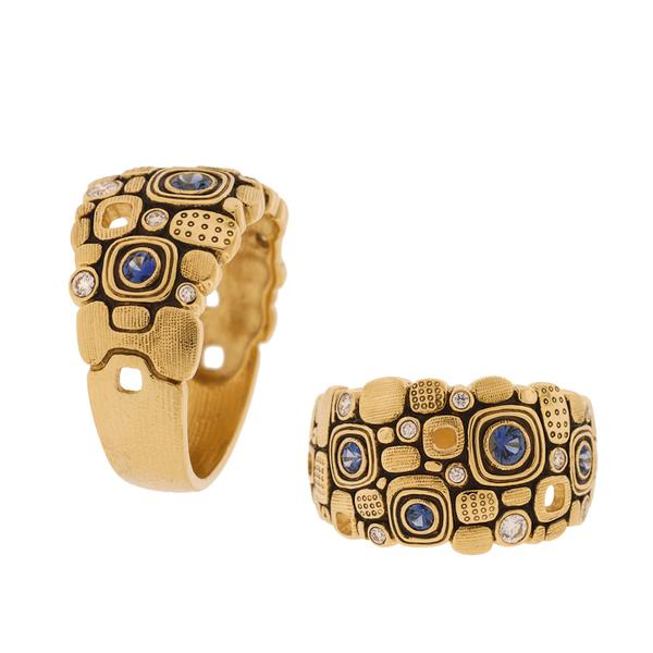 Alex Sepkus 18k Little Windows Ring