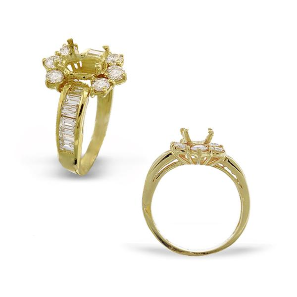 18k Yellow Gold and Diamond Mounting
