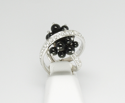 Io Si Scavia Black Onyx and Diamond Ring