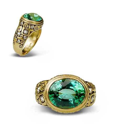 Alex Sepkus 18k Garden Pond Ring
