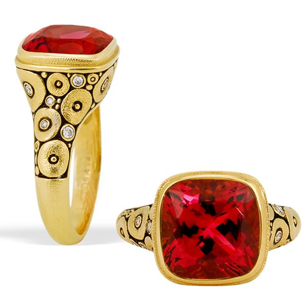 Alex Sepkus 18k and Pink Tourmaline Orchard Ring