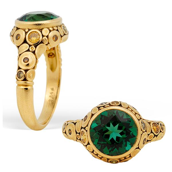 Alex Sepkus 18k and Green Tourmaline Ring