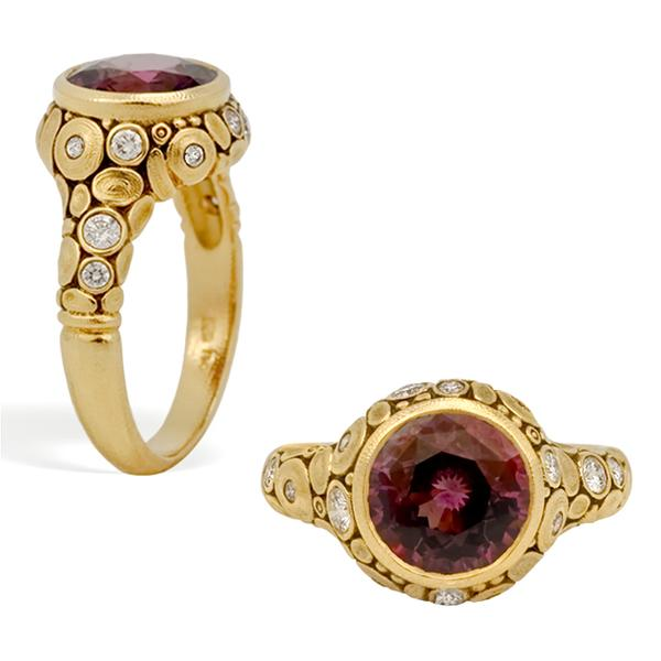 Alex Sepkus 18k and Rasberry Spinel Ring