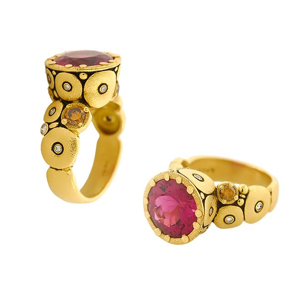Alex Sepkus 18k and Tourmaline Orchard Ring