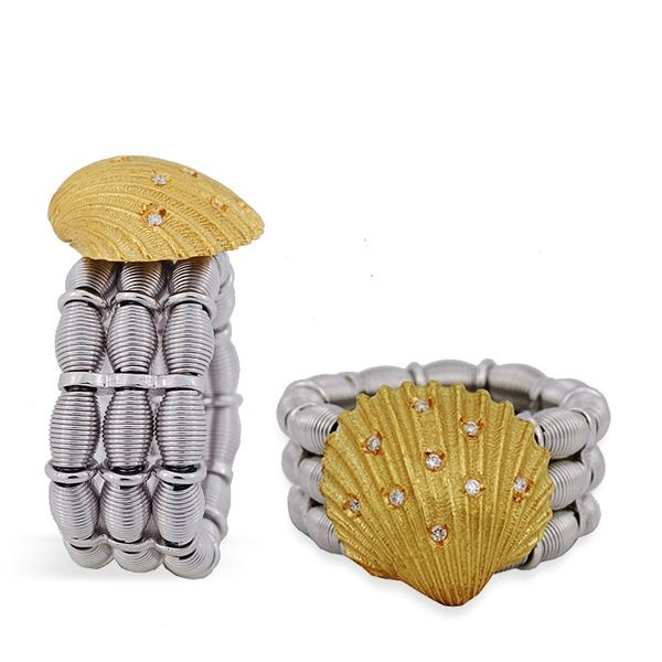 Jarretier 18k Expandable Seashell Ring