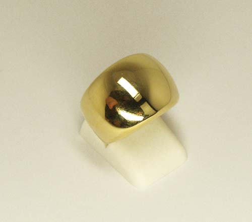 High Polished Cigar Band 18k Yellow Gold