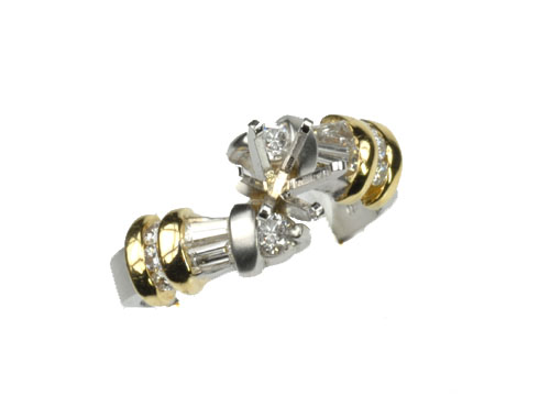 18k Two-Toned and Diamond Mounting