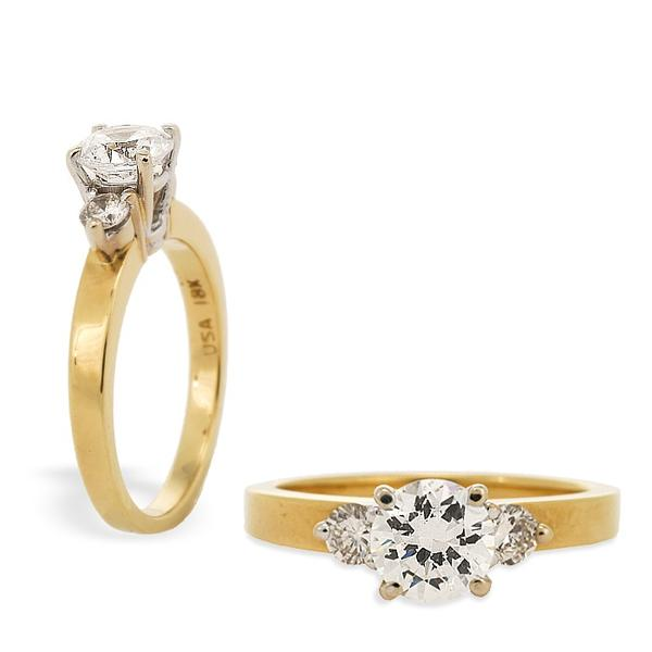 18k Yellow Gold Engagment Ring