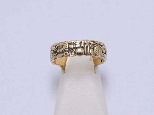 GENTS OPEN OVALS 18KT BAND