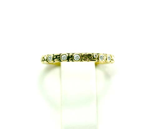 18k Yellow Gold 2.5mm Mini Band 18d=0.23ct.
