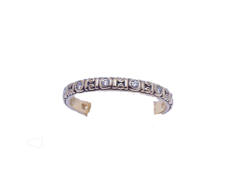 Alex Sepkus 18k Circle Band w/ Diamonds