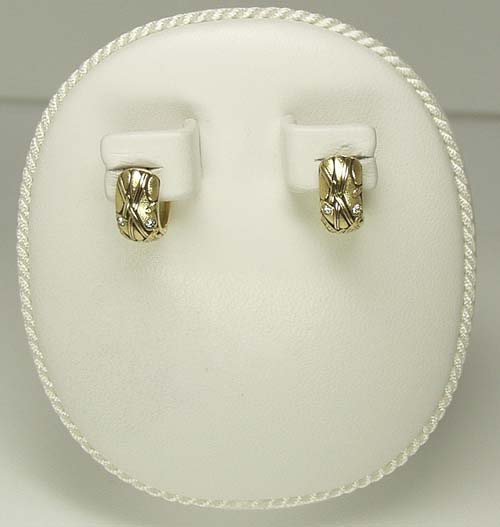 Alex Sepkus 18k Huggy Style Earrings w/ Diamonds