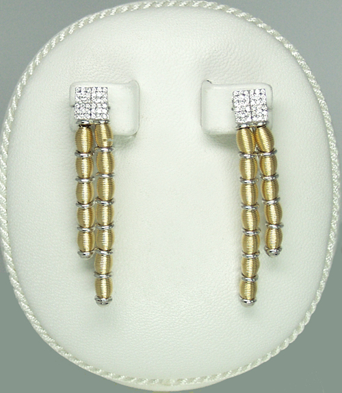 Jarretier 18k Earrings w/ Diamonds