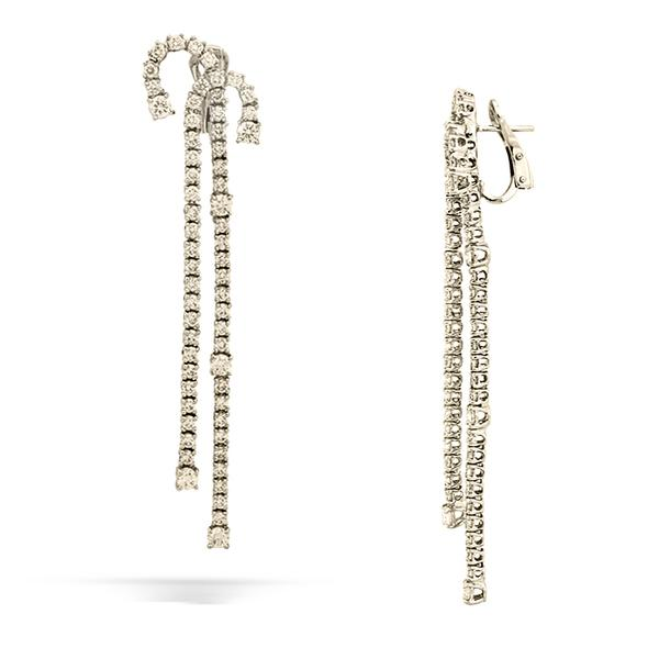 Diamond Double J Earrings