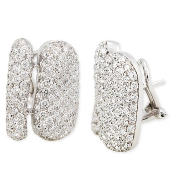 Antonini 18k White Gold and Diamond Earrings