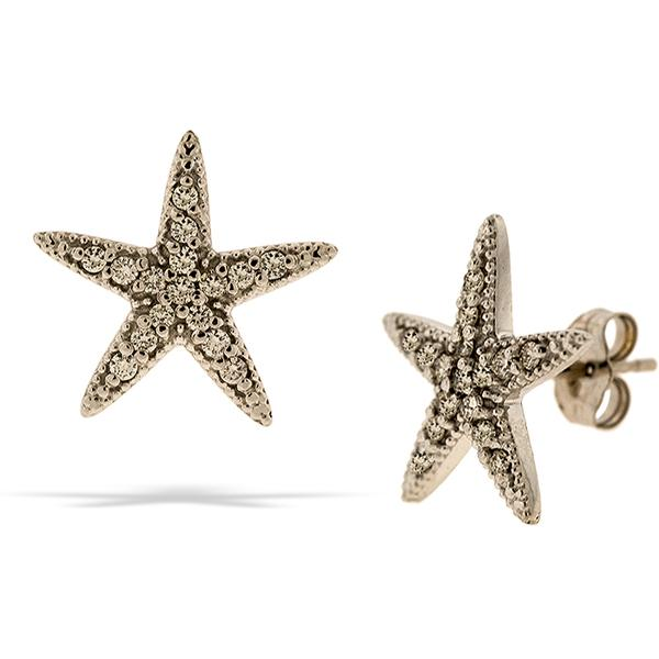 Starfish Earrings Pave Set Diamonds