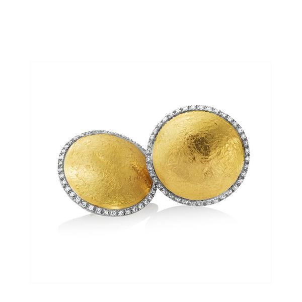 18KT. YELLOW GOLD,10MM SATIN EARRINGS