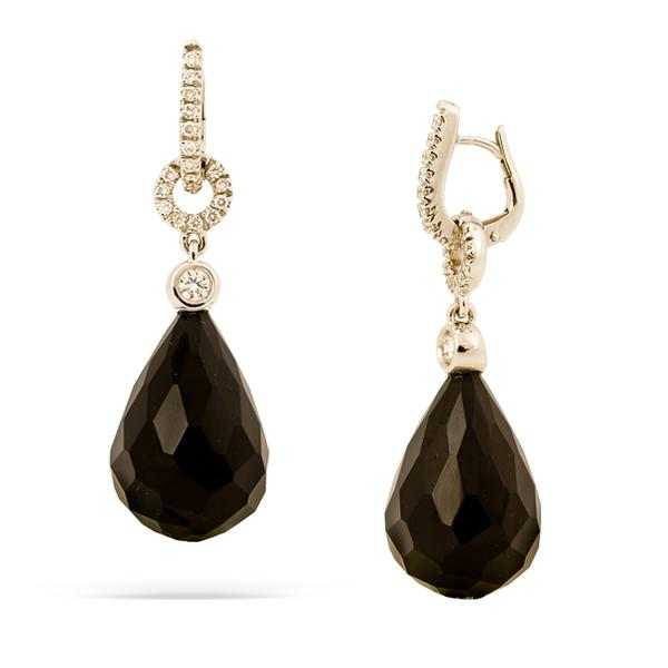 Crivelli 18k Black Onyx and Diamond Earrings