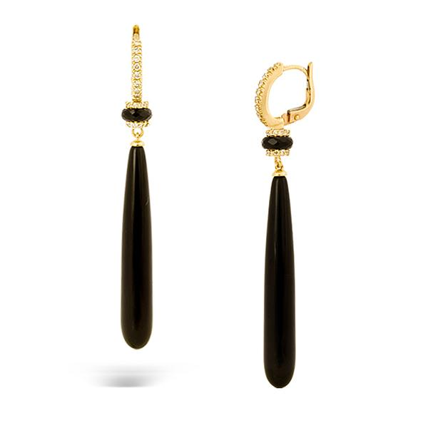 Crivelli 18k Earrings with Onyx and Diamonds
