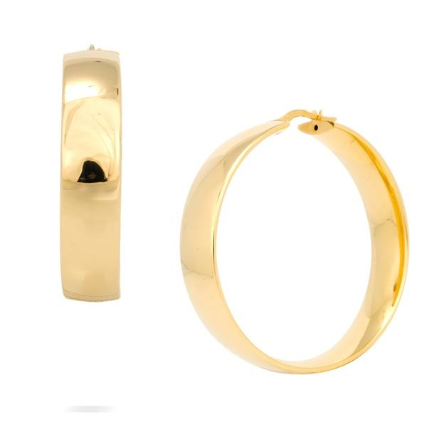 18k Yellow Gold 10mm x 44mm Hoops