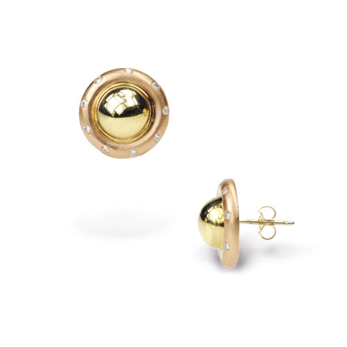 Saturn Ball Two-Toned Earrings