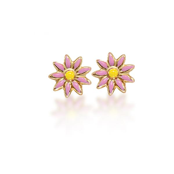 FuFoo 14k and Enamel Flower Studs