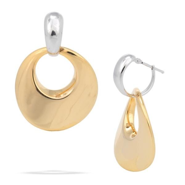 18k Yellow and White Gold Earrings