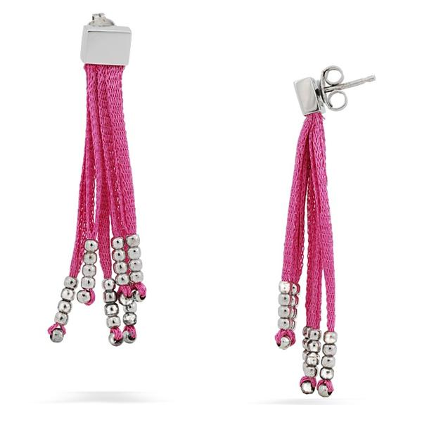 Calgaro Pink Sterling Silver Earrings