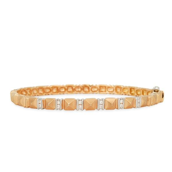 Two-Toned Gold Bracelet w/ Diamonds