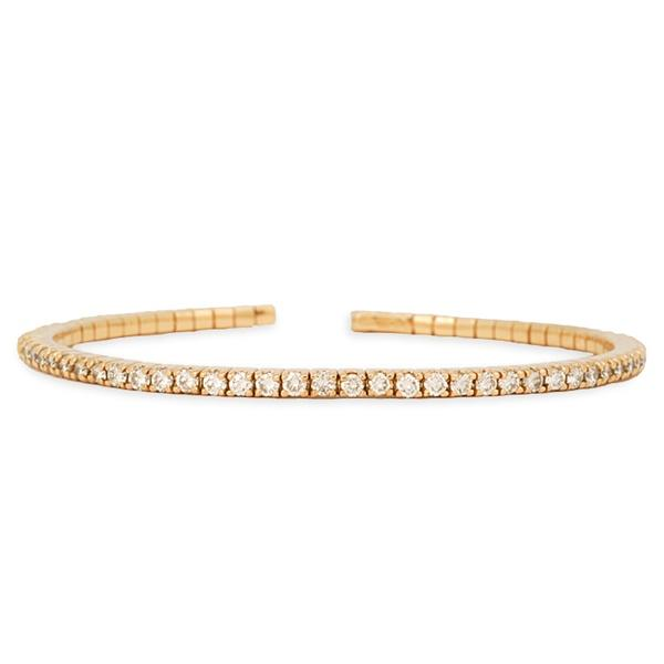 Pink Gold and Diamond Bangle