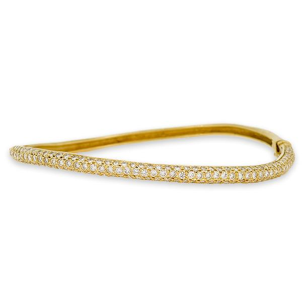 Green Gold and Pave Diamond Bracelet