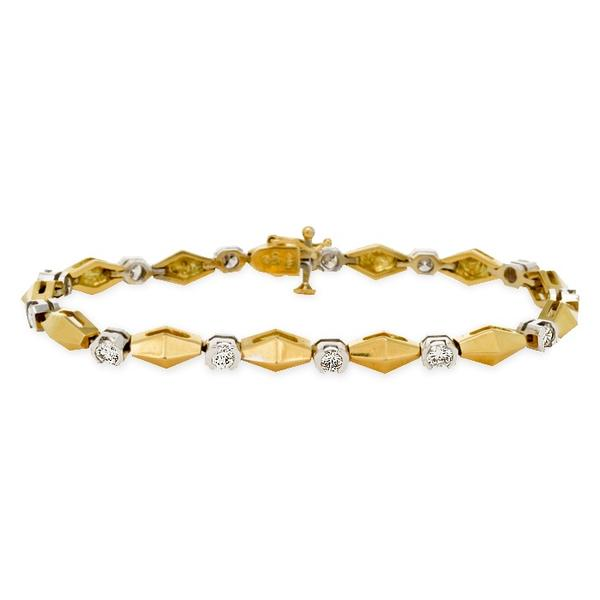 18k Two-Toned Gold Bracelet with Diamonds