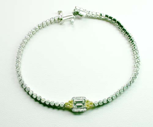 Charles Krypell Platinum18k and Diamond Bracelet