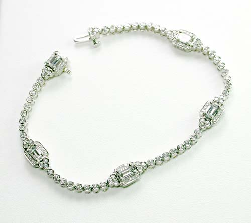 Charles Krypell Platinum and Diamond Bracelet
