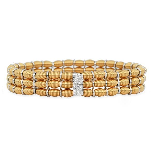 Jarretier 18k Expandable Bracelet w/ Diamonds
